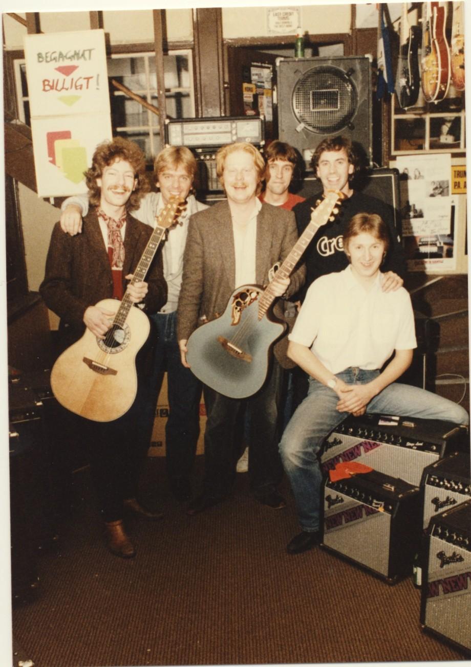 Demogig på MUG. Peter , Bruce ,Ulf,Roger,Bruce och Chrille.