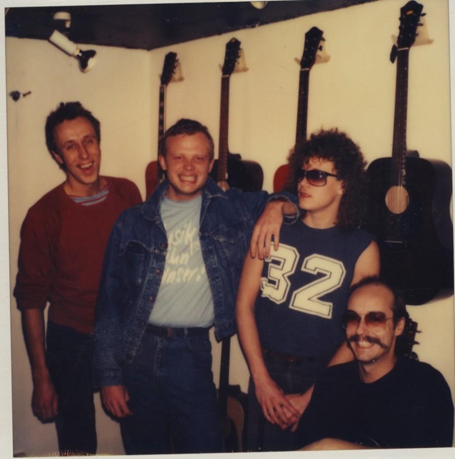 Janne , jag , Olle och Ulf. Det första Midnight Flyers.