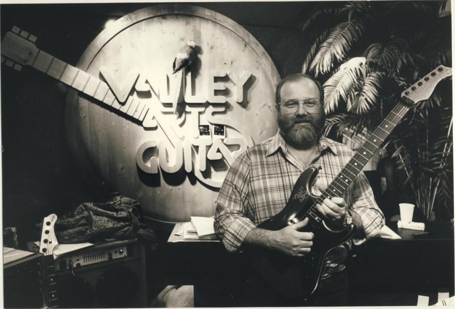 Mike Mc Quire , Valley Arts guitar centre. Jag intervjuade honom.